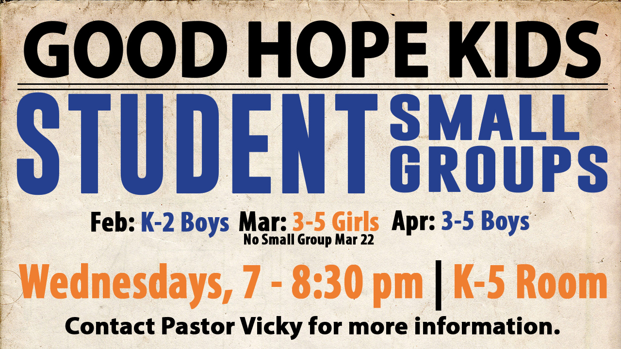 gh Kids Small Groups
