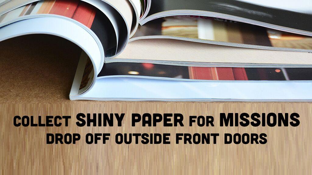 shiny paper