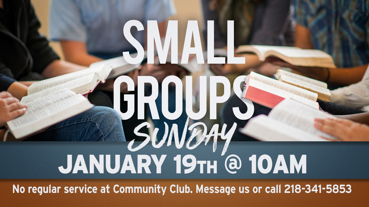 Small Groups - Sunday